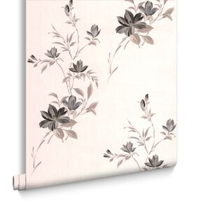 Reed Charcoal Wallpaper, , large
