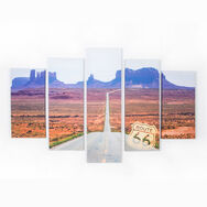 Route 66 Set Of 5 Printed Canvas, , large