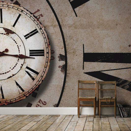 Clock face mural grahambrownuk for Clock wall mural