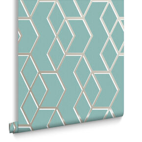 Archetype Mint & White Gold Behang, , large