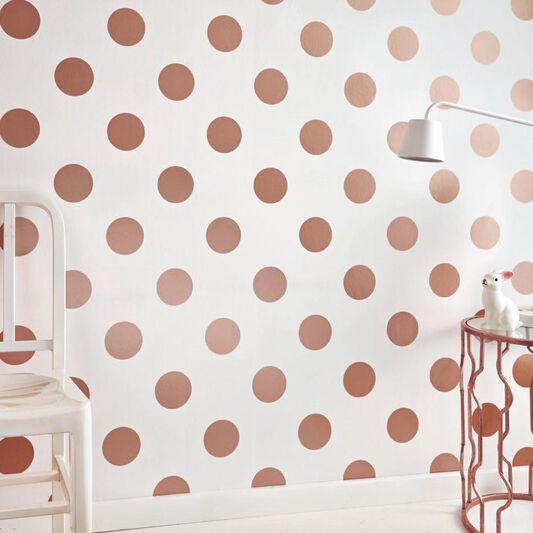 dotty rose gold wallpaper grahambrownus. Black Bedroom Furniture Sets. Home Design Ideas