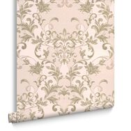 Abigail Soft Green Wallpaper, , large