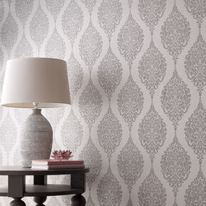 Gray wallpaper silver wallpaper grey for Grey and cream wallpaper