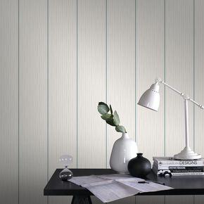 Stria Stripe Duckegg and White Wallpaper, , large