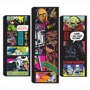 Star Wars Comic Collage Set Of 3 Canvas, , large