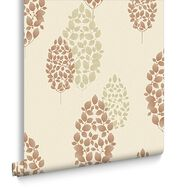 Lucy Burnt Orange Wallpaper, , large