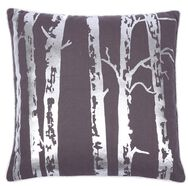 Woodland Silver Metallic Cushion, , large