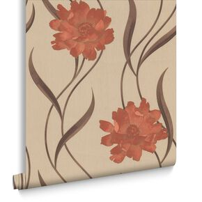 Poppy Burnt Orange en Cream, , large