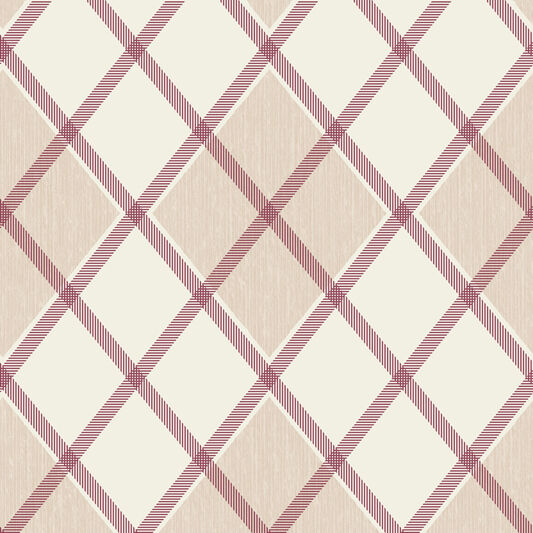 Argyle Russet Wallpaper, , large