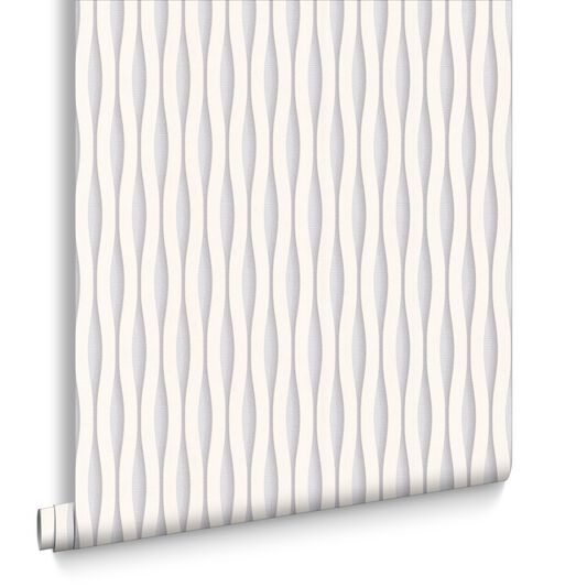 Lucid White and Silver Wallpaper, , large