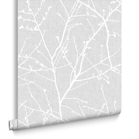 Innocence Grey Wallpaper Grey Pattern Wallpaper Graham