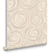 Bella Cream and Mocha Wallpaper, , large