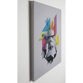Star Wars Neon Stormtrooper Neon Printed Canvas, , large