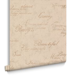 Concrete Script Gold Wallpaper, , large