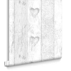 Wood Plank Love Heart Wallpaper, , large