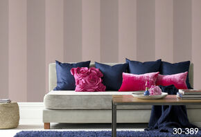 Bold Stripe Taupe and Gold Wallpaper, , large