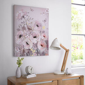 Watercolour Bloom Printed Canvas, , large