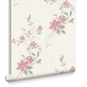 Reed Pink Wallpaper, , large