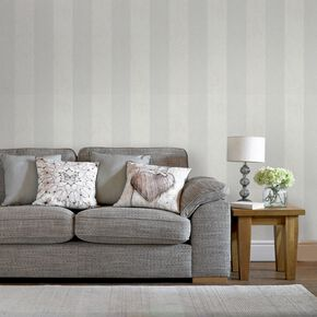 Artisan Stripe Dove Behang, , large