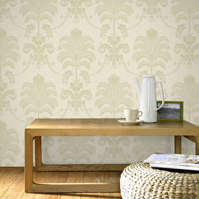 La Palma Green and Cream Wallpaper, , large