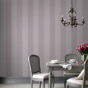 Artisan Stripe Mulberry Wallpaper, , large