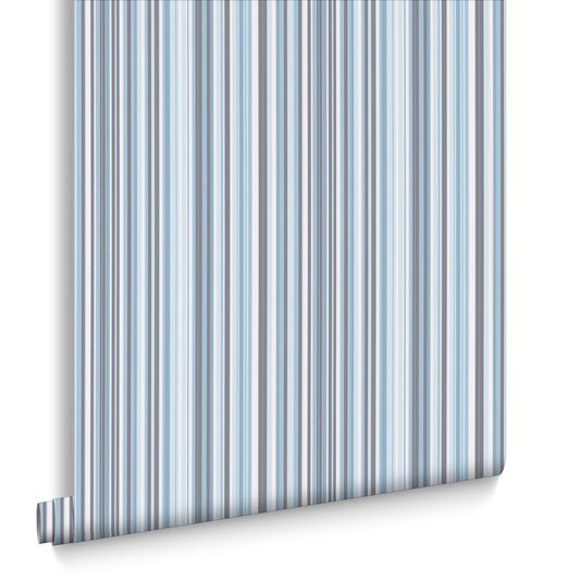 Barcode Linear Blue Wallpaper, , large