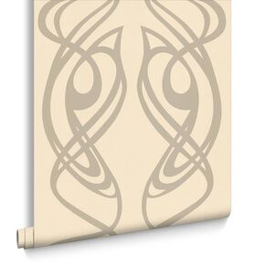 Diva Beige Wallpaper, , large