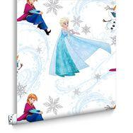 Frozen Anna, Elsa & Olaf Blue Shimmer Wallpaper, , large