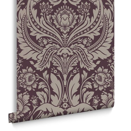 Desire Damson Wallpaper, , large
