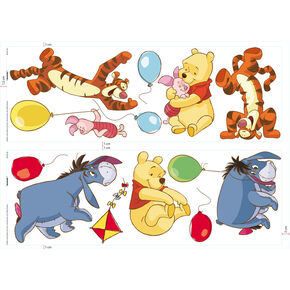 Sticker mural Jour libre avec Winnie l'Ourson , , large