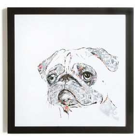 Pug Framed Print, , large