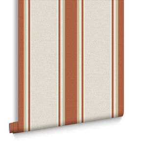 Orla Burnt Orange Wallpaper, , large