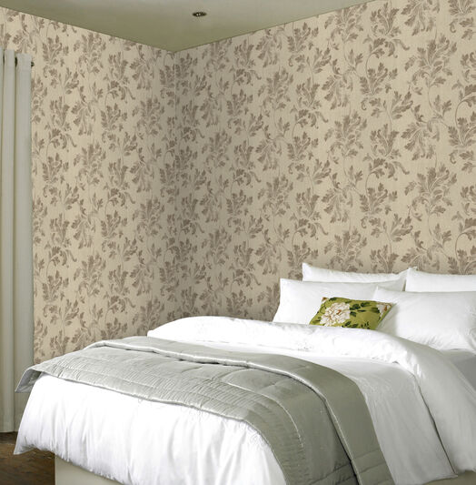 Acanthus Beige Wallpaper, , large