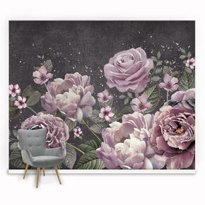 Purple Bloom Wall Mural, , large