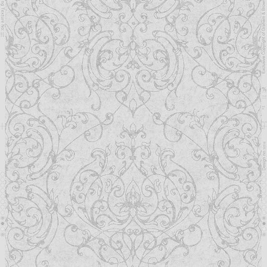 empress damask grey wallpaper damask wallpaper graham. Black Bedroom Furniture Sets. Home Design Ideas