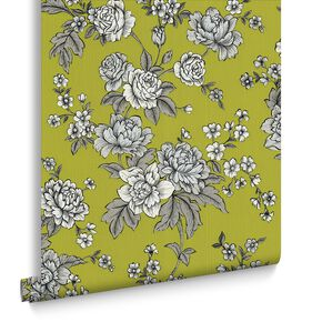 Kensington Chartreuse Wallpaper, , large