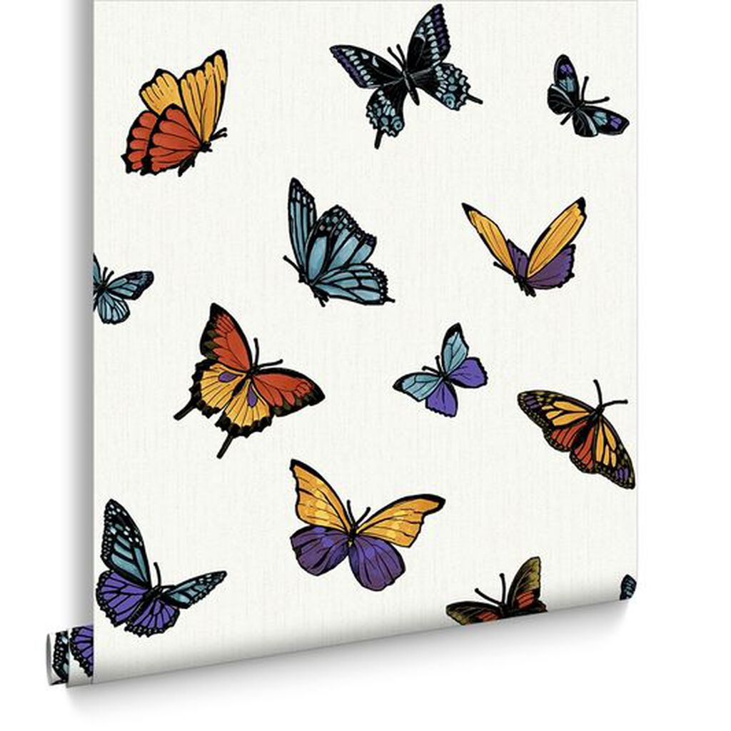 Flutterby pearl wallpaper graham brown for Flutterby wallpaper