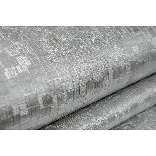 Jive silver and metallic wallpaper graham brown for Foil wallpaper uk