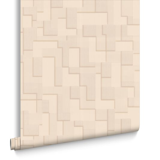 Checker Beige Wallpaper, , large