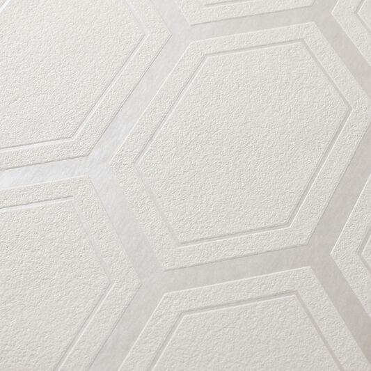 Chamonix White and Mica Wallpaper, , large