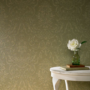Montague Olive Wallpaper, , large