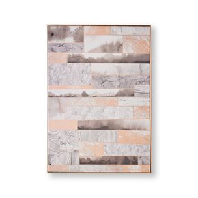 Rose Gold Quartz Dimension Framed Canvas, , large