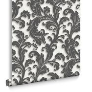 Capulet Charcoal Wallpaper, , large