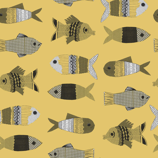 Fishes Mustard Wallpaper, , large