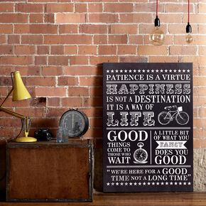 Happiness Typo Wall Art, , large