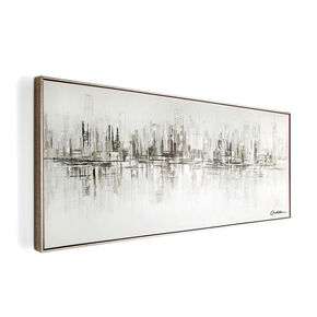 New York Reflections Handpainted Framed Canvas, , large