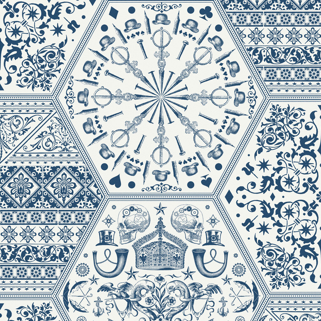World Heritage Blue and White Wallpaper | Graham & Brown