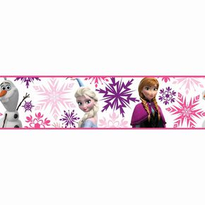 Frozen Anna, Elsa and Olaf Pink Border, , large
