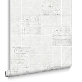 Parisienne Grey Wallpaper, , large