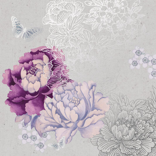 Monsoon Floral Metallic Wall Art, , large